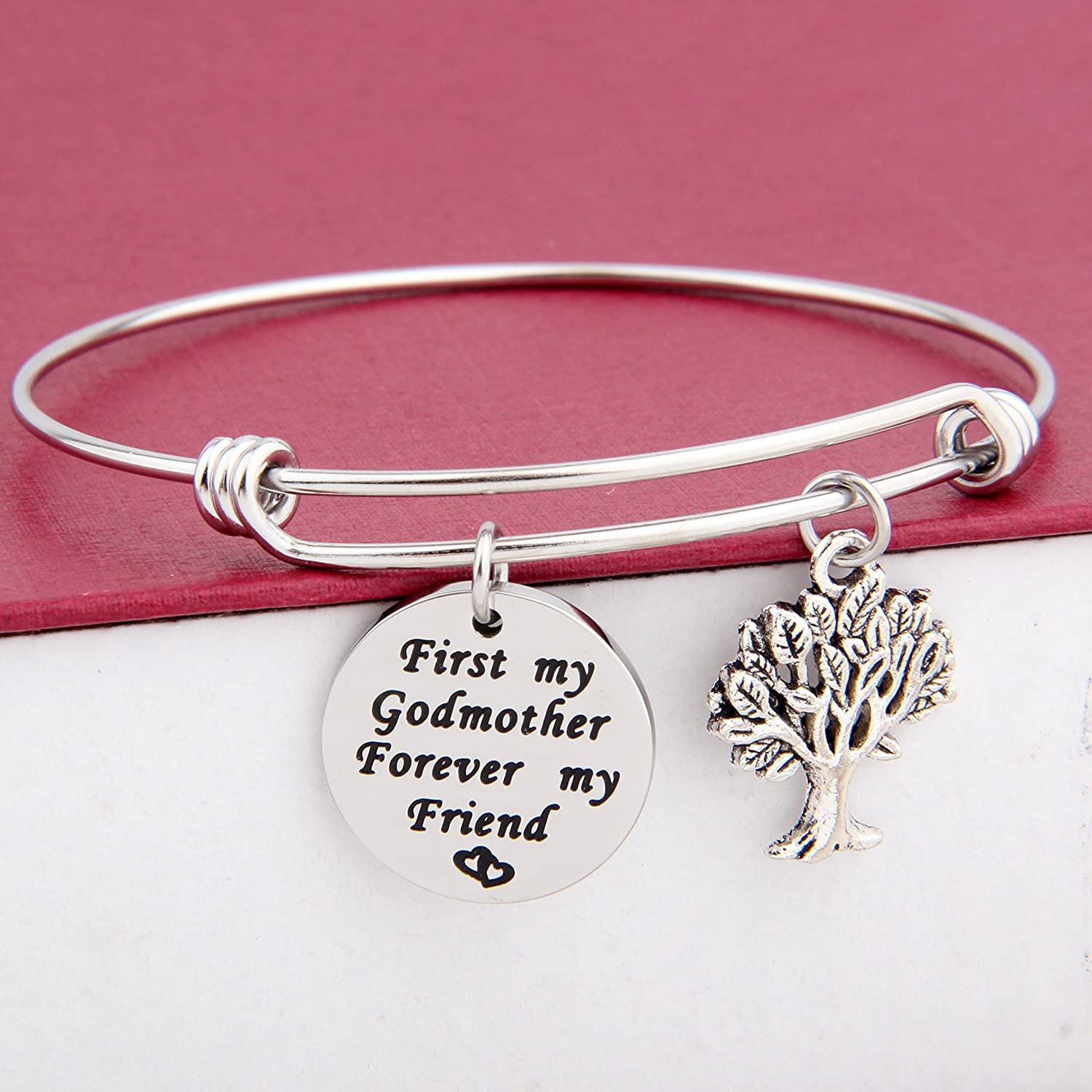Amazon.com: SEIRAA First My Godmother Forever My Friend Bracelet ...