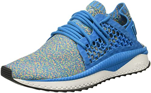 7806a128109a Puma Men s Tsugi Netfit Evoknit Hawaiian Surf-Nrgy Yellow-Rapture Rose  White Sneakers-