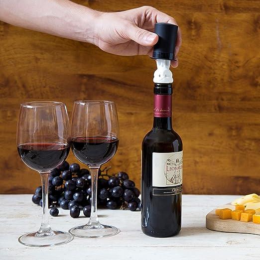 Wine Plug Rabbit Design Wine Gifts Wine Stopper /& Double Glass Pourer PELEG DESIGN Barney Wine Preserver Wine Gadgets