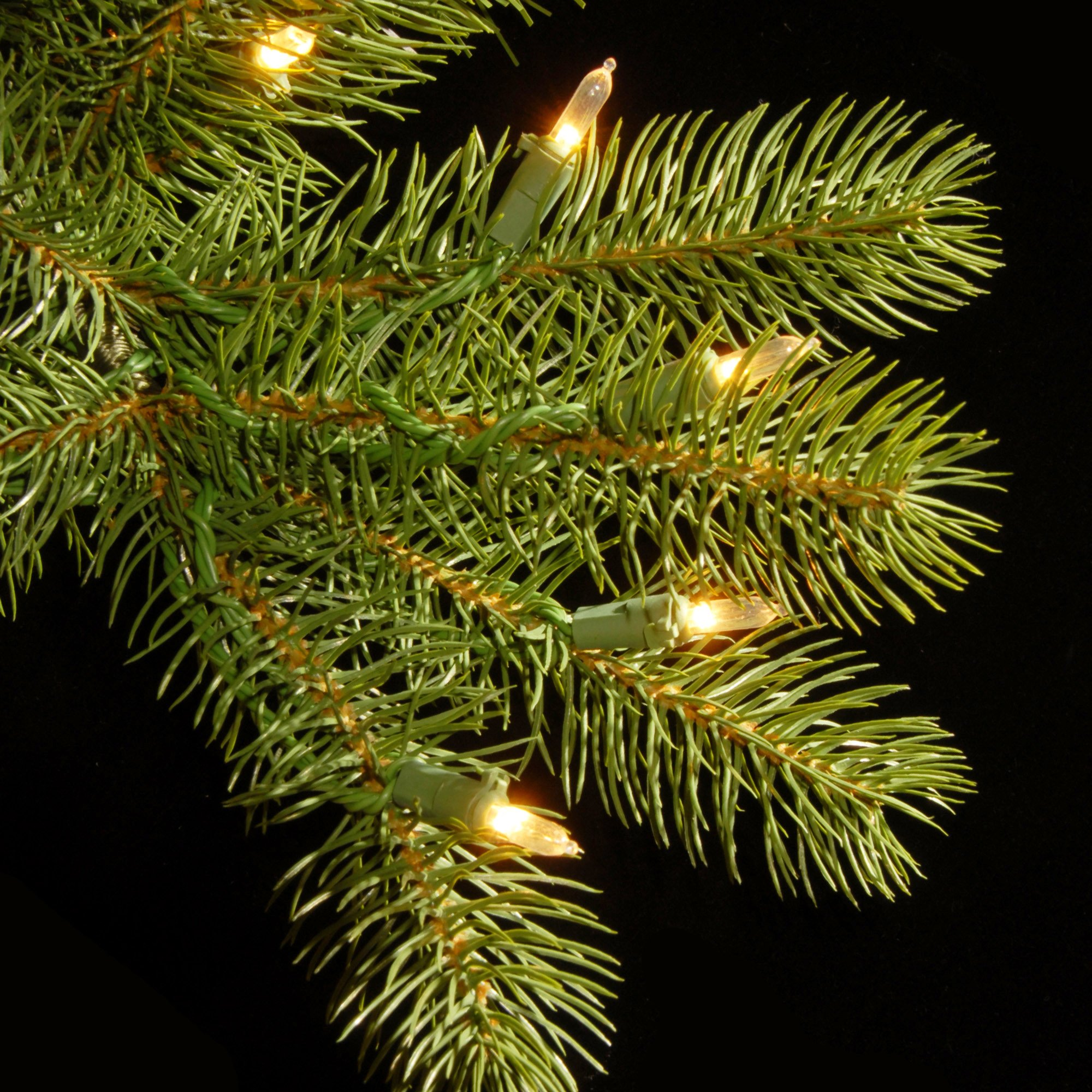 National Tree 7.5 Foot ''Feel Real'' Downswept Douglas Fir Tree with 750 Dual Color LED Lights and On/Off Switch, Hinged (PEDD1-312LD-75X) by National Tree Company (Image #5)