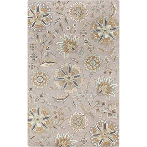 Surya Athena ATH-5127 Hand Tufted Wool Floral and Paisley Area Rug, 6-Feet by 9-Feet