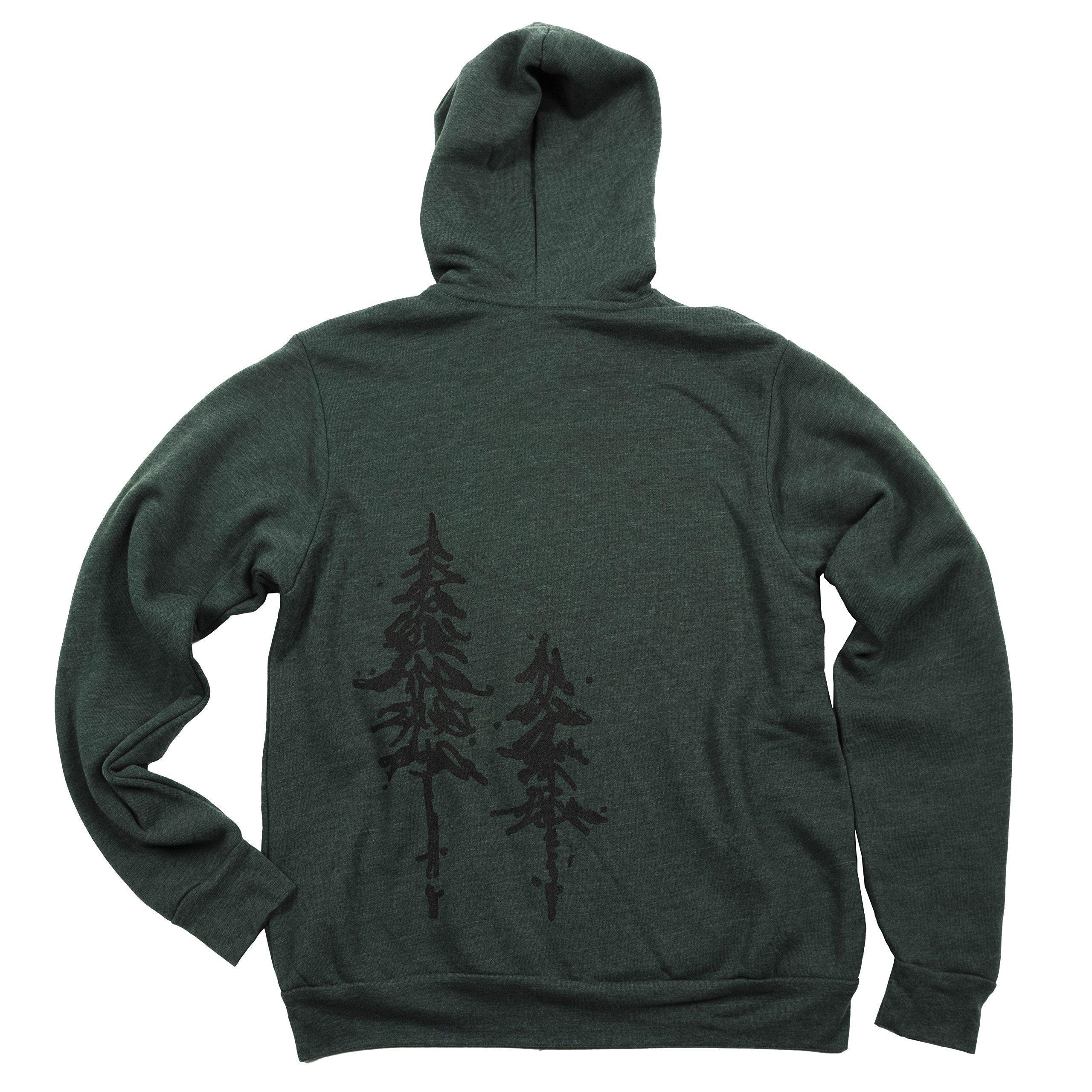 Pine Trees Men's Fleece Zip-Up Hoodie