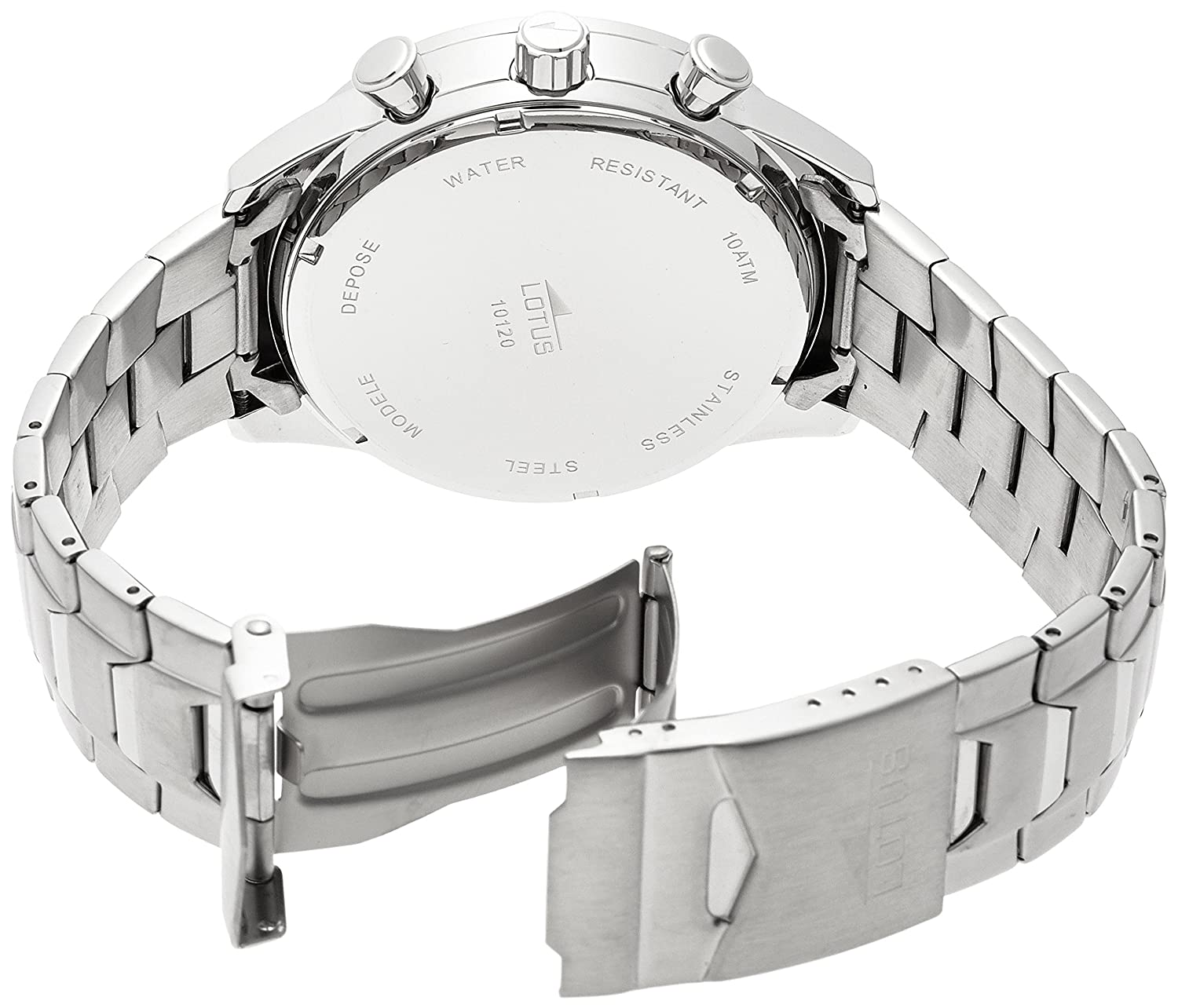 d7f55b05b123 Amazon.com  GENUINE LOTUS Watch Male Stainless steel Chronograph 10 ATM -  10120-2  Watches