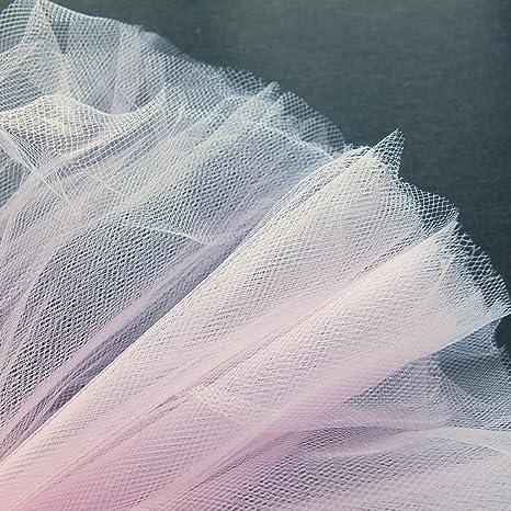 pastel rosa claro fine neta tela de tul 300 cm de ancho se vende
