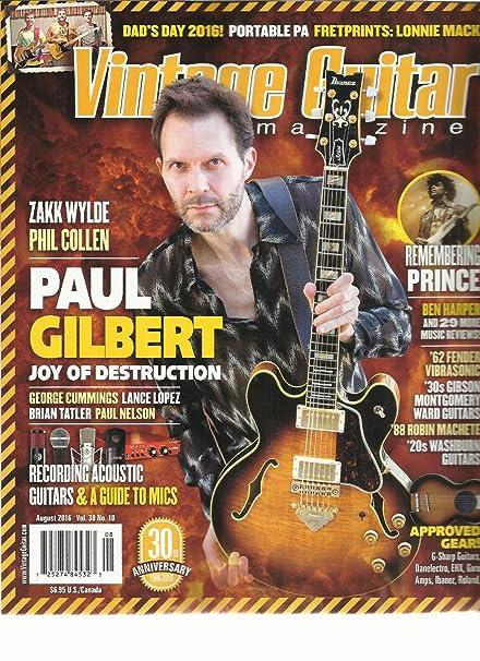 Can Vintage gutiar magazine are