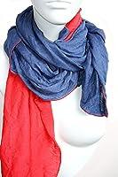 Blaurot: Schal für Damen und Herren in blau & rot aus Jersey