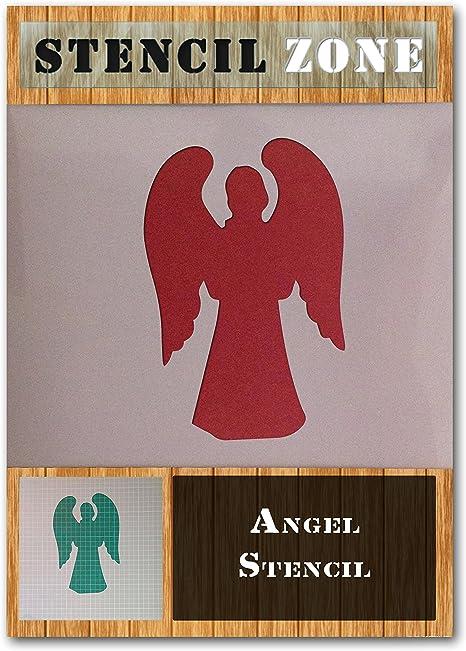 Angel God Holly mylar airbrush painting wall art crafts stencil