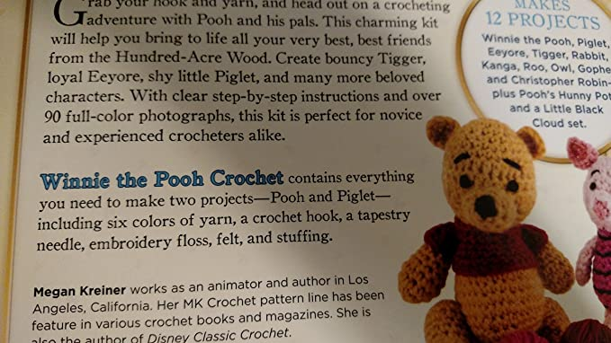 Amazon Disney Winnie The Pooh Crochet Kit By Megan Kreiner