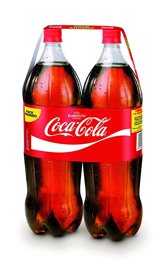 Coca-Cola - Botella de Plástico 2 litros - Pack de 3 (Total 12 litros): Amazon.es: Alimentación y bebidas