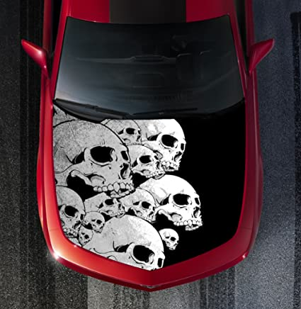 Amazon com: Avery H13 SKULL SKULLS - HOOD WRAP - Wraps Decal Sticker