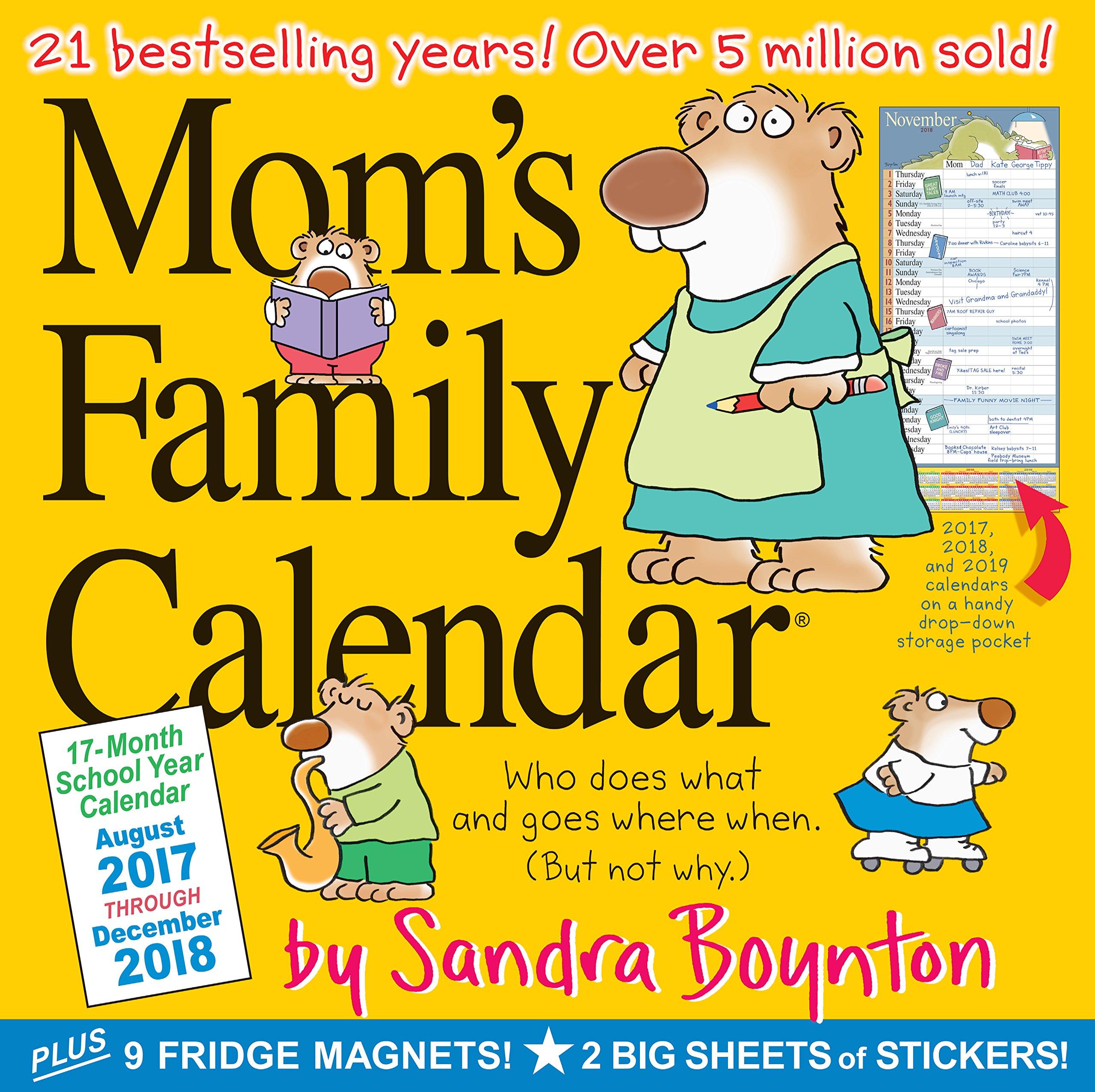 yearly calendar 2018 17