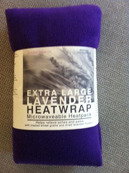 Forro polar de microondas bolsa de trigo con lavanda – violeta – tamaño XL