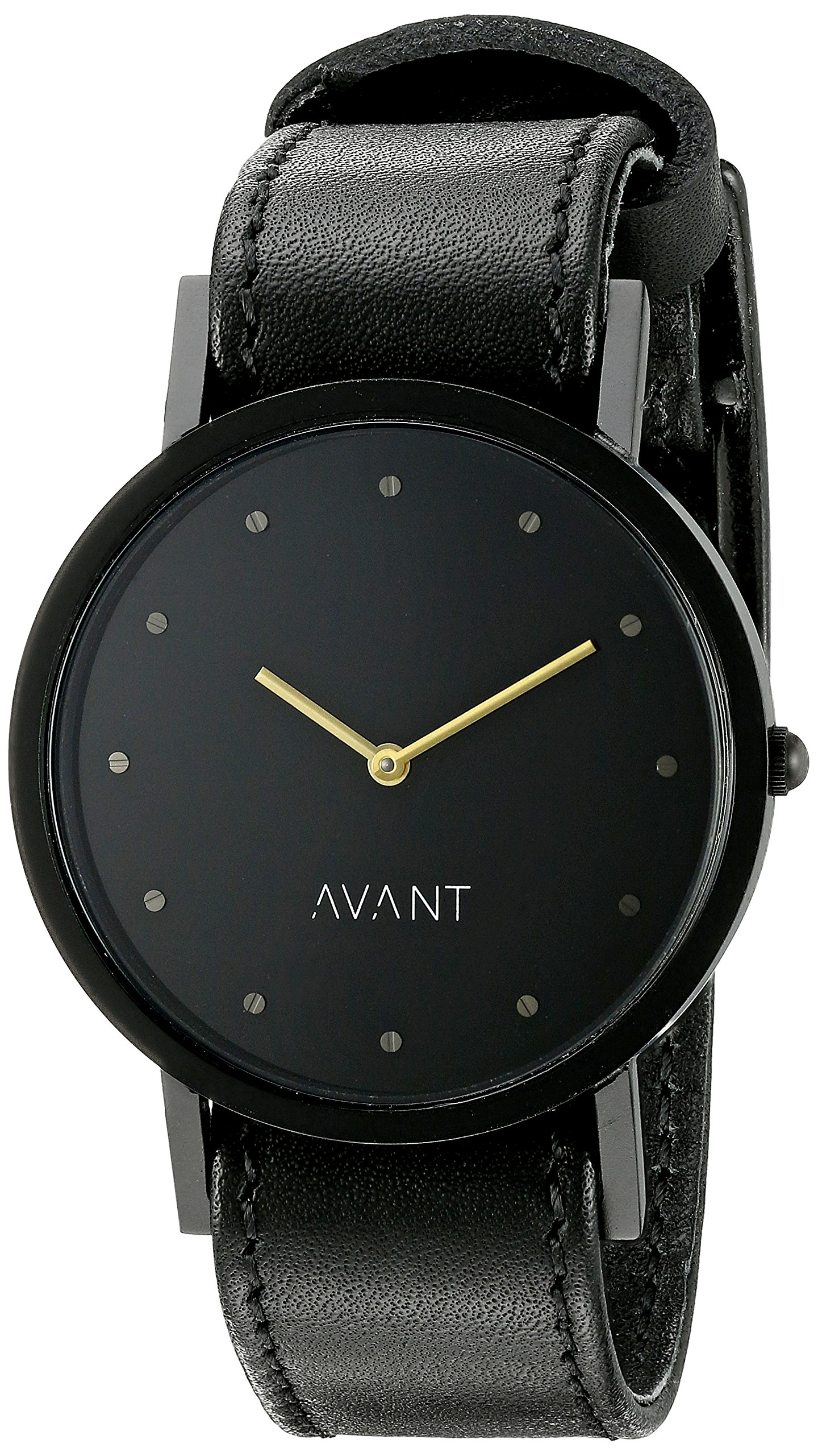 South Lane Unisex 8301 Swiss Analog Display Swiss Quartz Black Watch