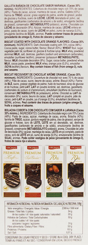 Virginias - Galleta Premium 70% Cacao A La Naranja 120 g: Amazon.es: Alimentación y bebidas