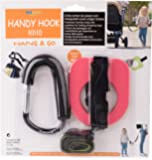 Kidsmile Anti-lost Toddlers Walking Handle Set Wrist Safety Harness Straps with Large Stroller Hooks / Parent & Child Safety Restraint Set / Toddler Tether / Child Safety Cord (Pink)