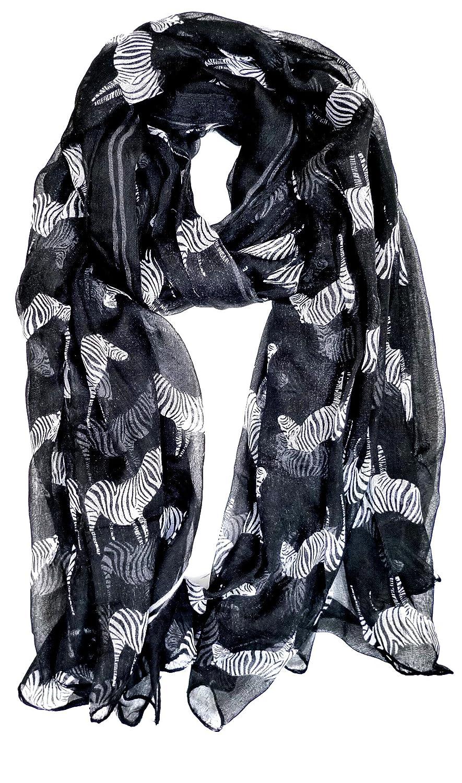 LARGE BLACK or WHITE ANIMAL ZEBRA PRINT LADIES SCARF SHAWL SARONG UK SELLER