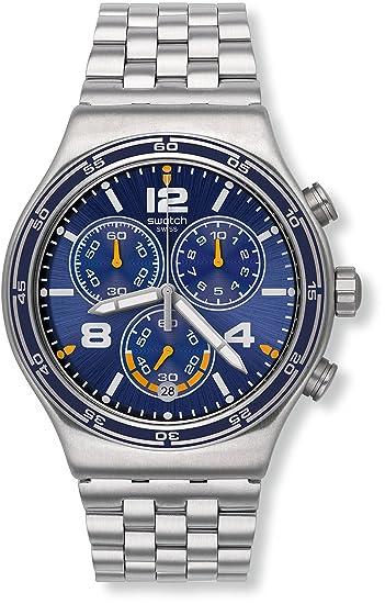 Swatch Reloj Cronógrafo de Cuarzo para Hombre con Correa de Acero Inoxidable - YVS430G: Amazon.es: Relojes