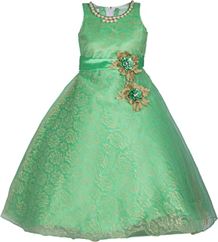 My Lil Princess Girl's Net and Satin Frock Birthday Gown Dress Girls' Dresses & Jumpsuits at amazon