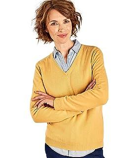04daf5172a360 Wool Overs Pull Dos boutonné - Femme - Laine mélangée  Amazon.fr ...