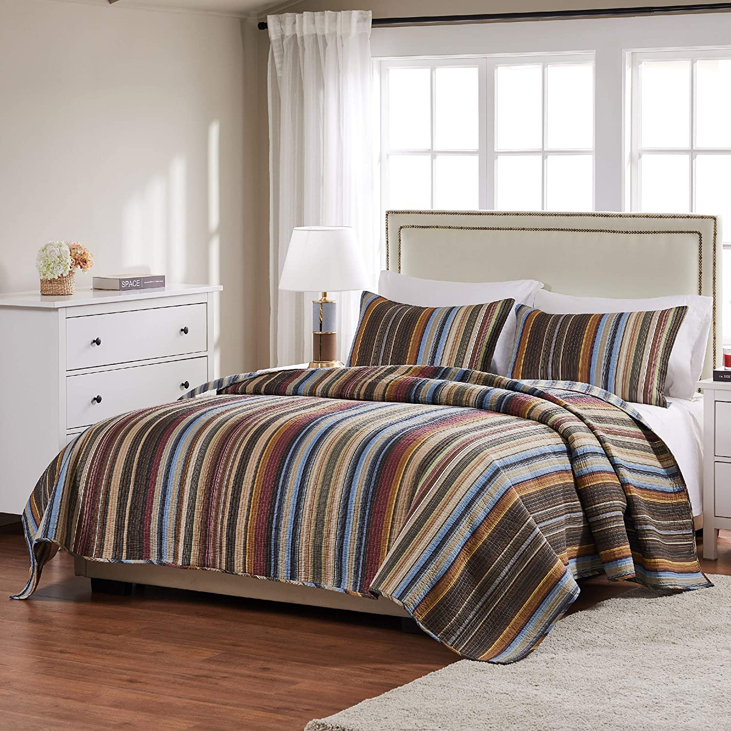 Greenland Home Durango Quilt Set, 3-Piece King/Cal King