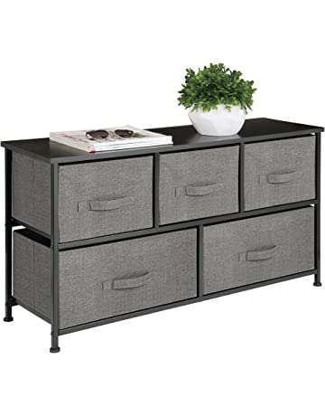 Mdesign Extra Wide Dresser Storage Tower S Y Steel Frame Wood Top Easy Pull