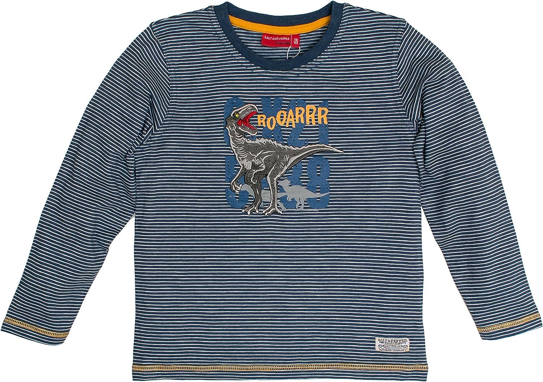 Salt /& Pepper Boys Longsleeve Explorer Stripe T-Shirt