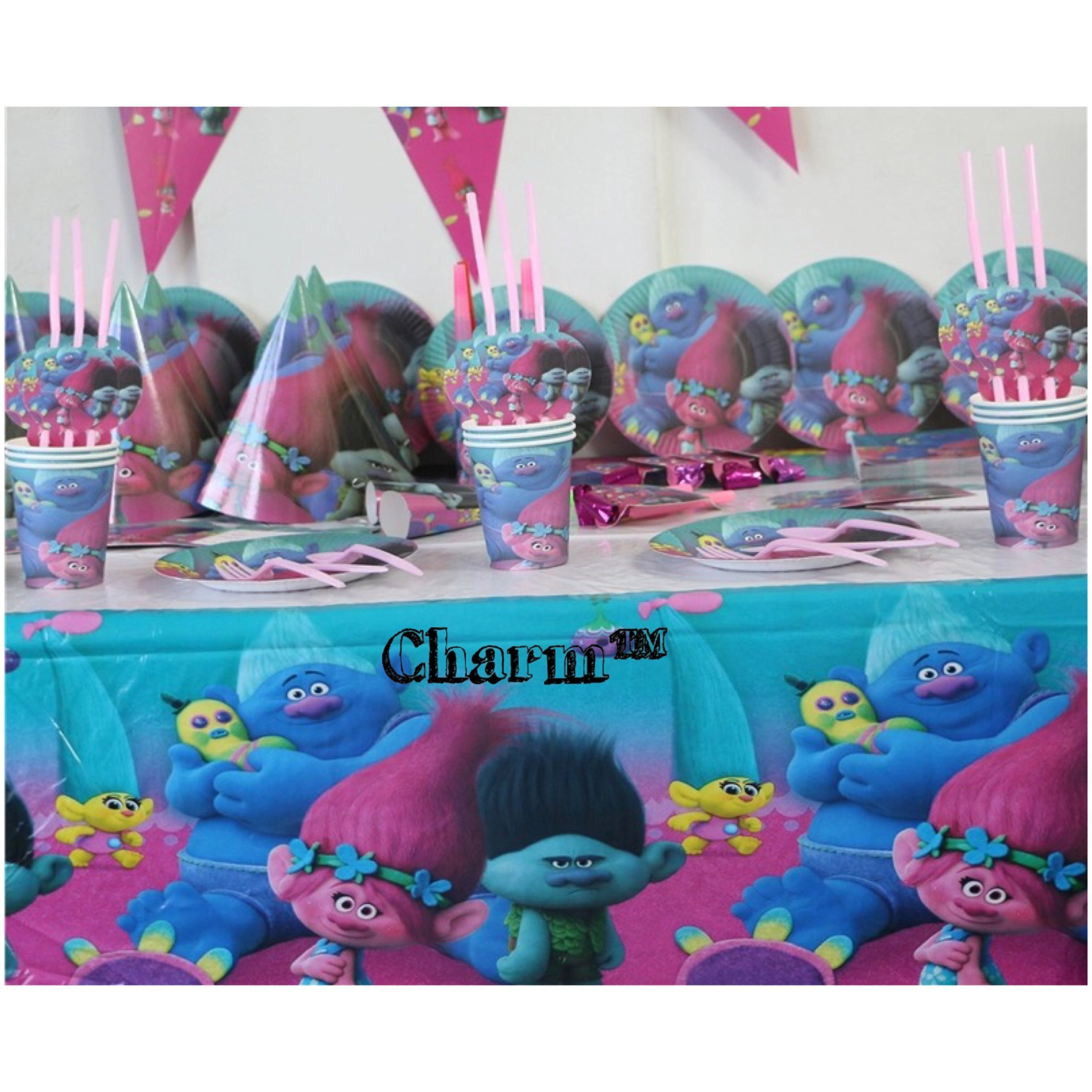 TR Set of 2 Tablecloths Plastic 42'' X 70'' Kids Birthday Party Decorations and Supplies by CharmTM