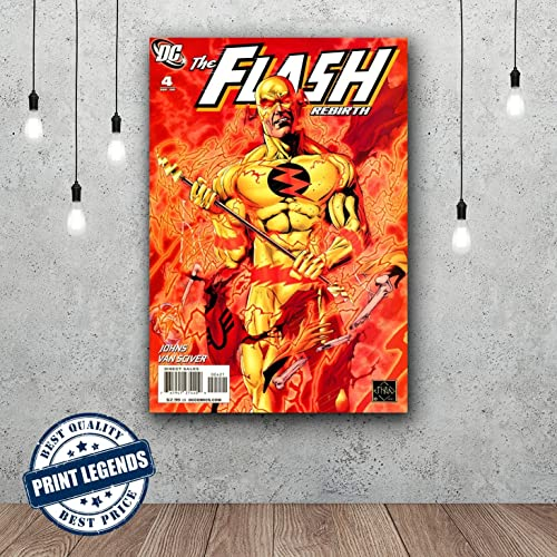 The Flash Comic Book Canvas Print   Canvas Art   Wall Art   Framed Print