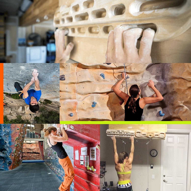 CHAIRLIN Hangboard Tabla Entrenamiento Escalada Tabla de entrenamiento para escalada Tabla multipresa de Madera para Principiantes