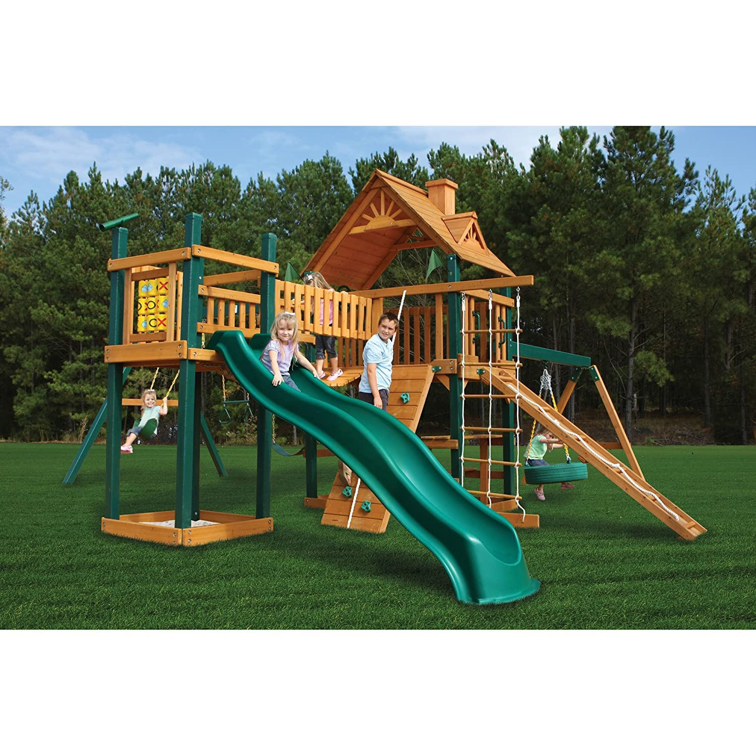 Amazon Outdoor Playset with Slide Climbing Activities