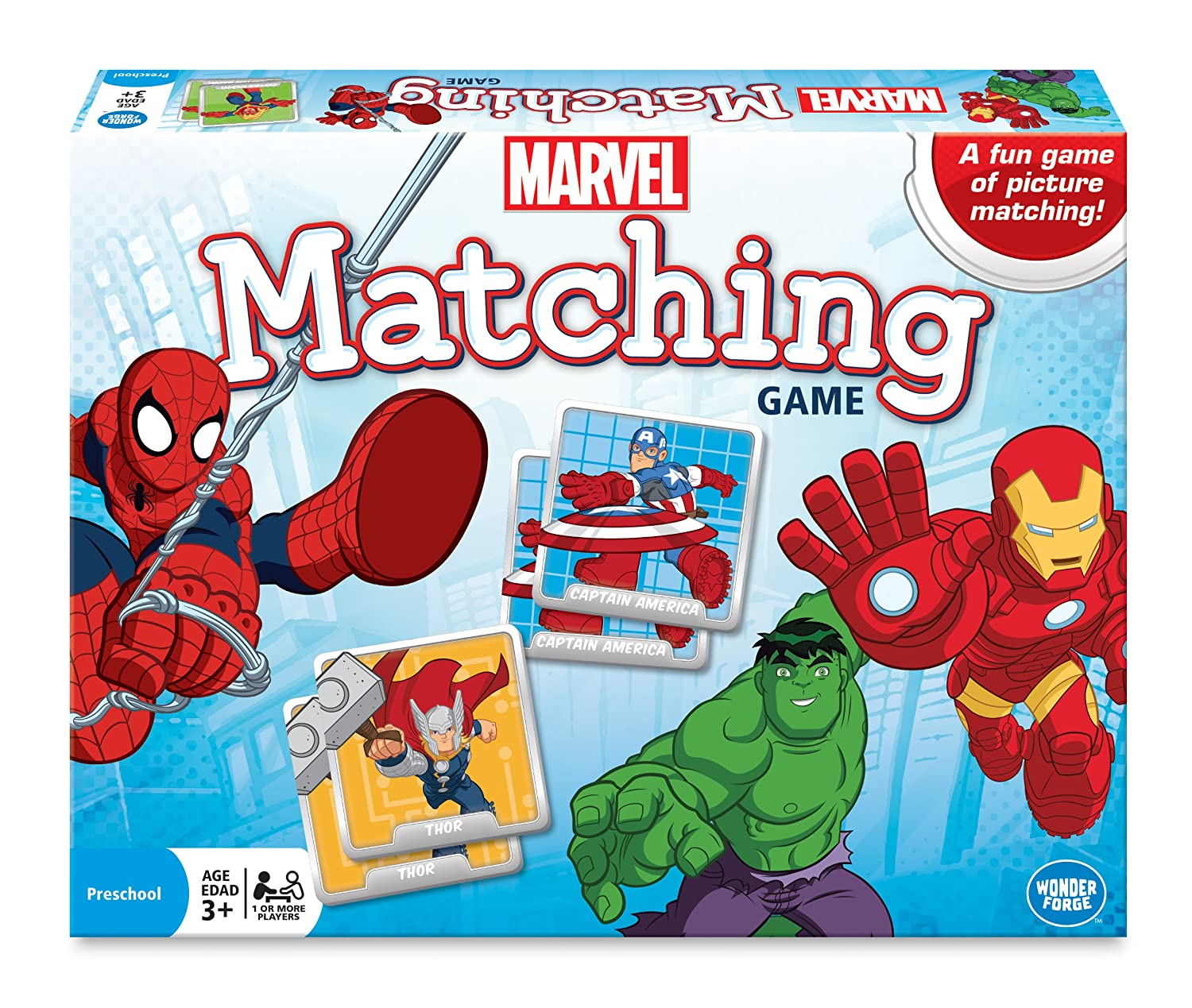marvel matching game blue board games amazon canada