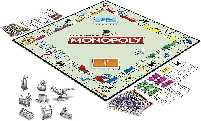 HASBRO Monopoly Gesellschaftspiel Brettspiel ab 8 Jahren 2-6 Spieler Spiel