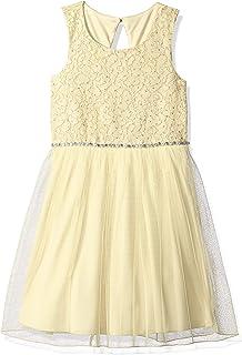 ab4dd2d53 Amazon.com: Speechless Girls' Big Neck Glitter Lace High Low Maxi ...