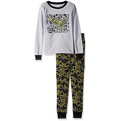 The Children's Place Big Boys' Top and Pants Pajama Set 2, Lime Splash 85049, 6