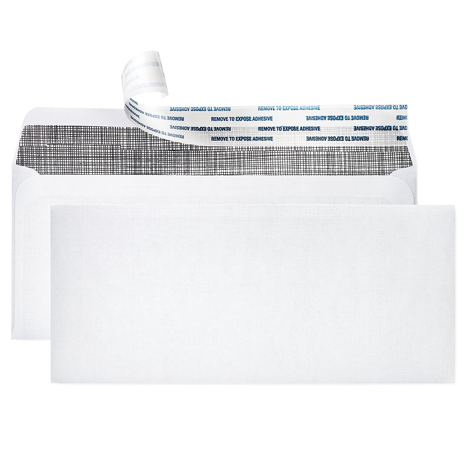# 10 Security Envelopes ~ 500 Letter Size Envelopes with Peel & Seal Self Adhesive + Tinted Interior for Privacy Protection ~ Printer Friendly, Boxed, 4-1/8