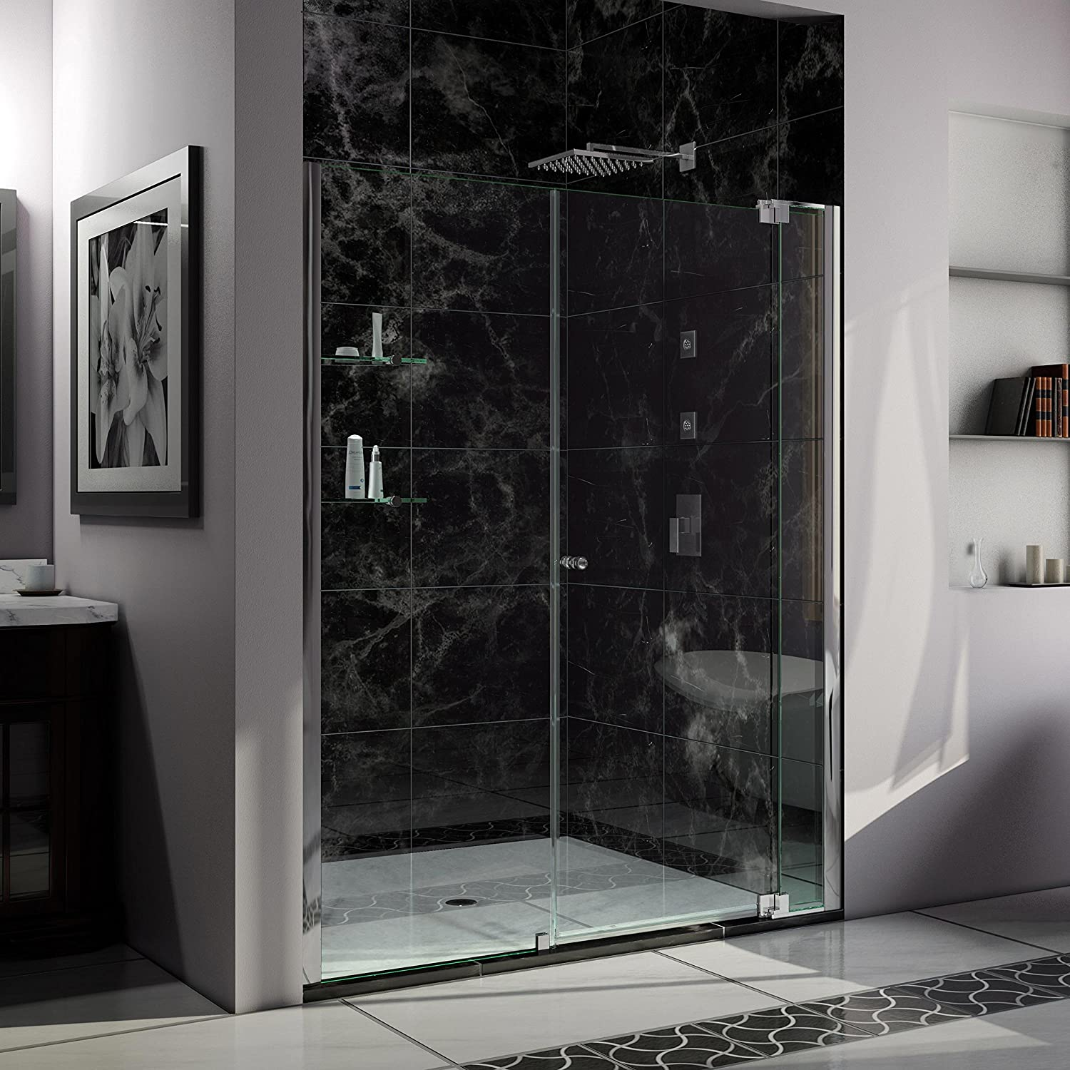 Dreamline Allure 63 64 In Width Frameless Pivot Shower Door 38