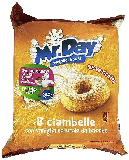 Mr. Day Ciambella con Vaniglia Naturale , 8 Pezzi Amazon.it Amazon Pantry