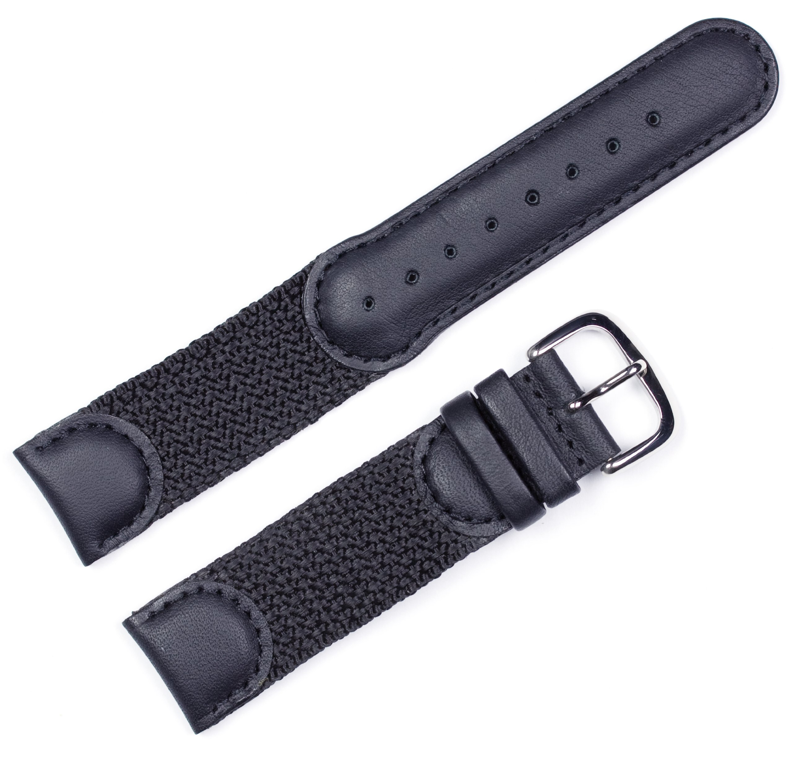 Swiss Army Watchband Black 20mm Watch band - by deBeer