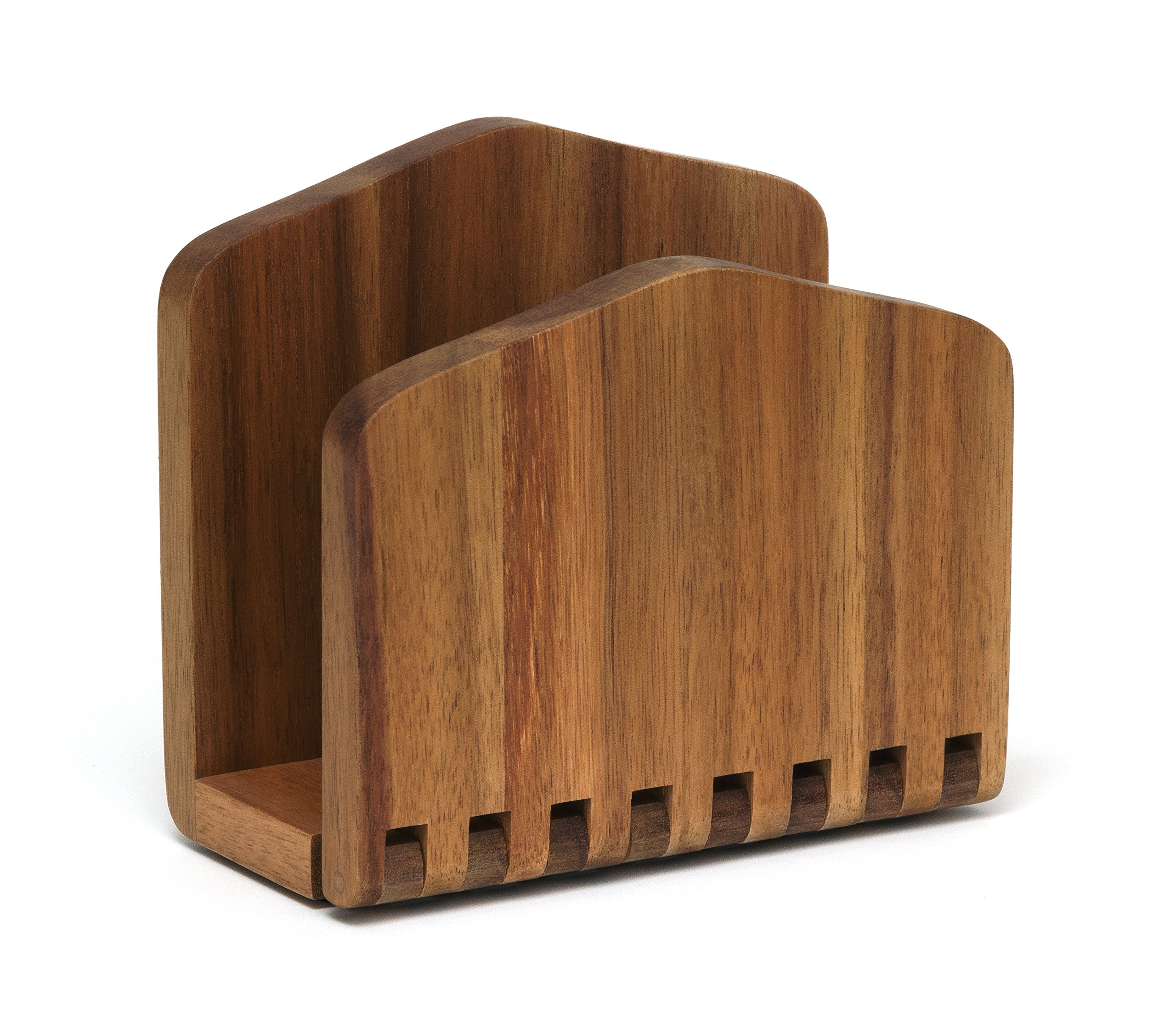 Lipper International 1160 Acacia Wood Adjustable Napkin Holder, 6-1/2'' x 3-1/4'' x 6''