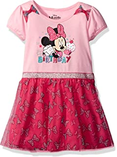 7e9185774 Amazon.com: Disney Big Girls Minnie Mouse Tutu dress with Faux Fur ...