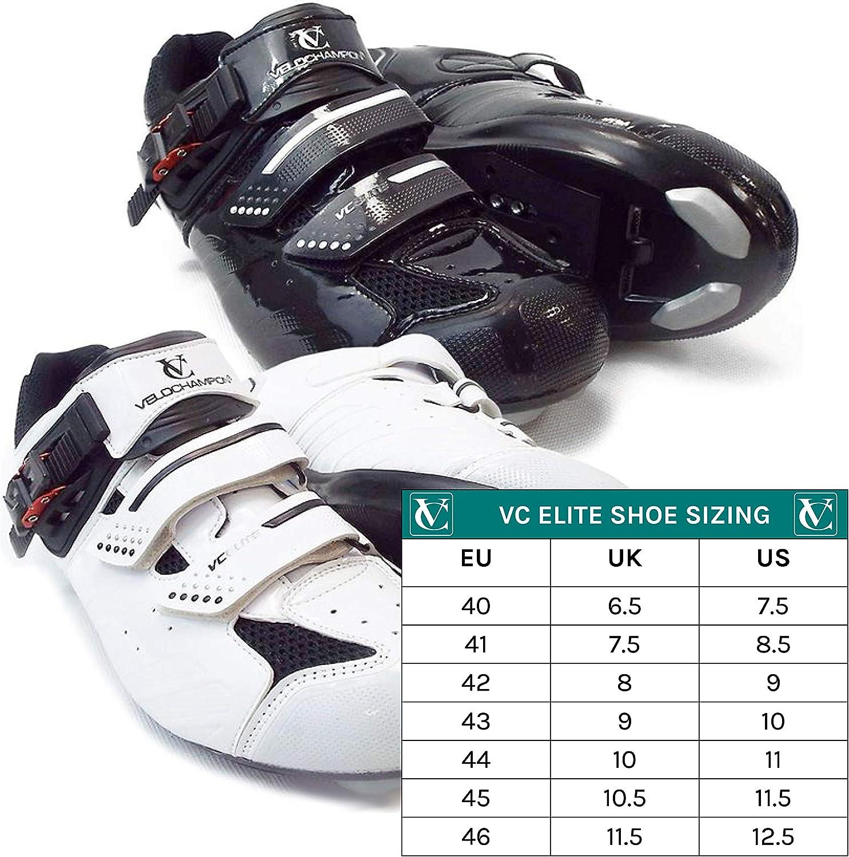 VeloChampion Zapatillas de Ciclismo Elite Road (par) Cycling Road ...