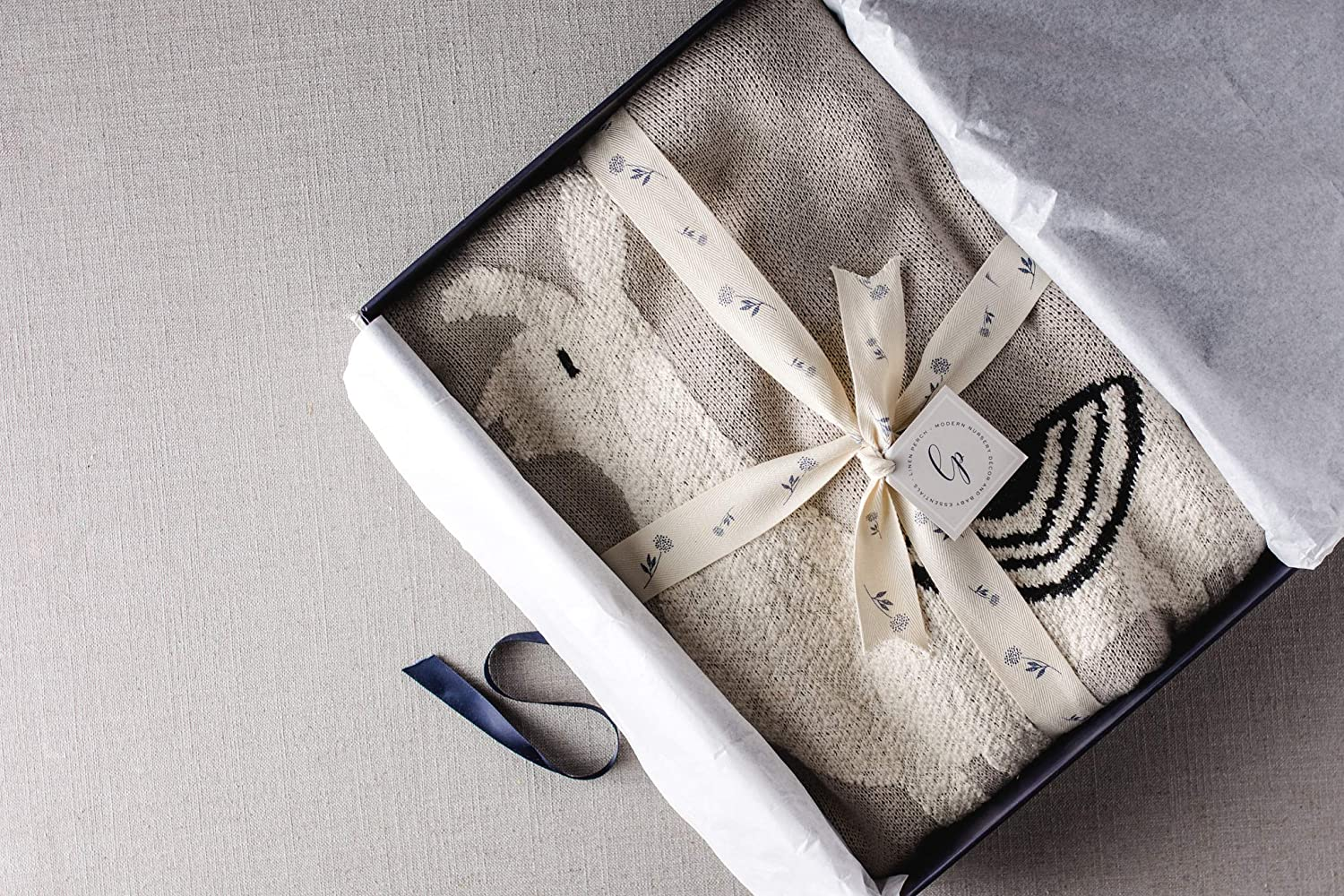 Newborn Baby Shower Gift for Boy or Girl in Deluxe Gift Box Luxury Llama Baby Blanket 100/% Cotton Warm Baby or Toddler Blanket