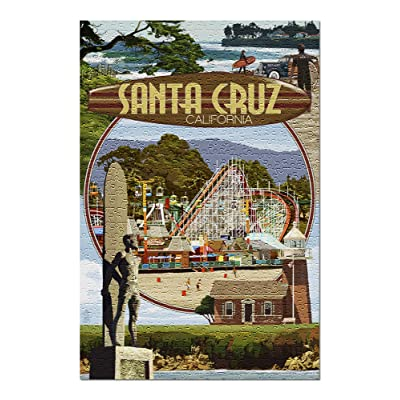 Santa Cruz, California - Scenes Montage (Premium 500 Piece Jigsaw Puzzle for Adults, 13x19, Made in USA!): Toys & Games