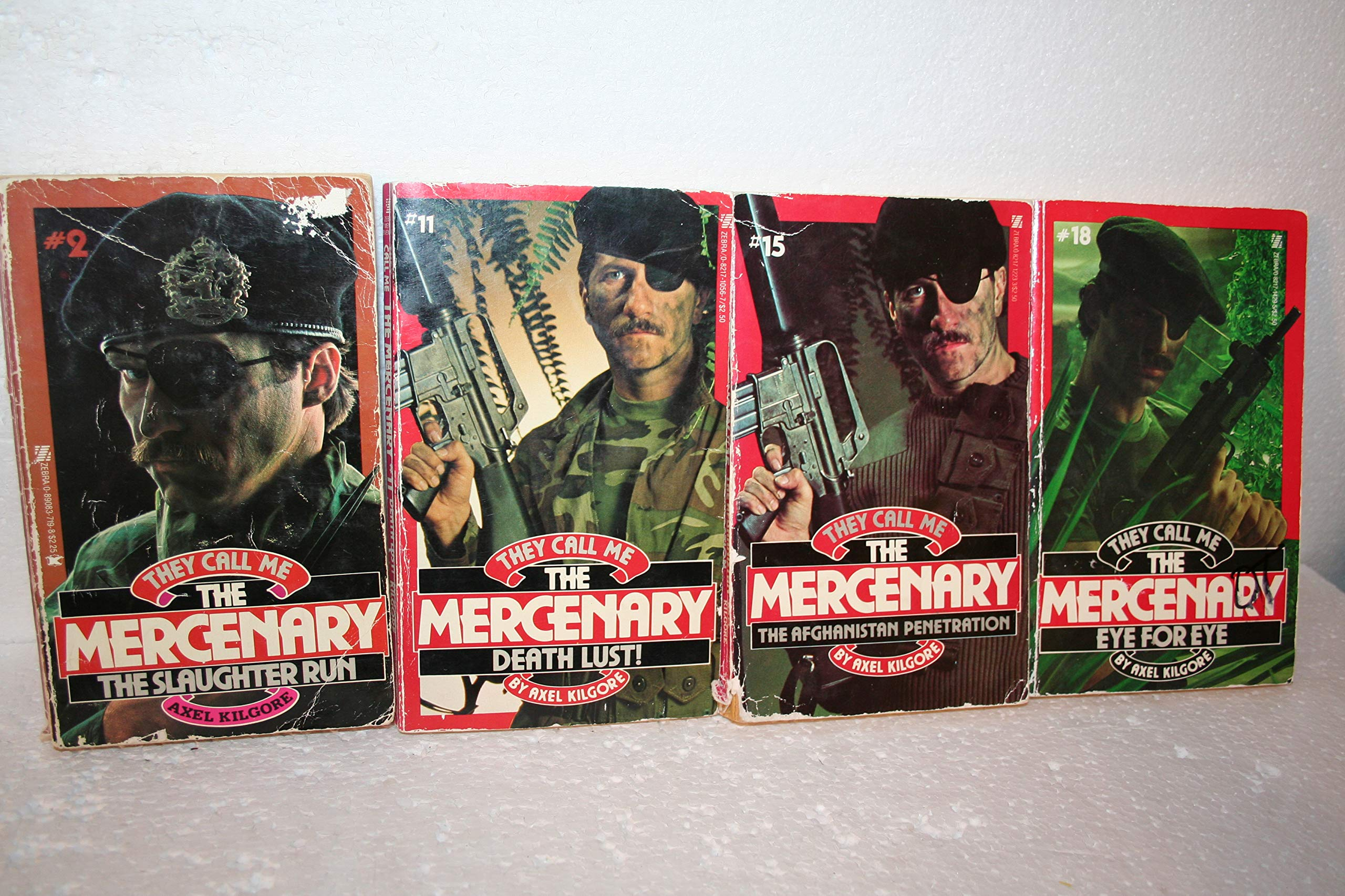 They Call Me the Mercenary# 2, 11, 15 & 18: Axel Kilgore: Amazon.com: Books