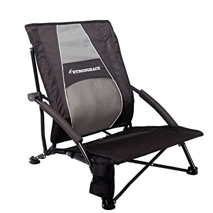 STRONGBACK Low Gravity Beach Chair with Lumbar Support Black  sc 1 st  Amazon.com & Amazon.com : STRONGBACK Low Gravity Beach Chair with Lumbar Support ...