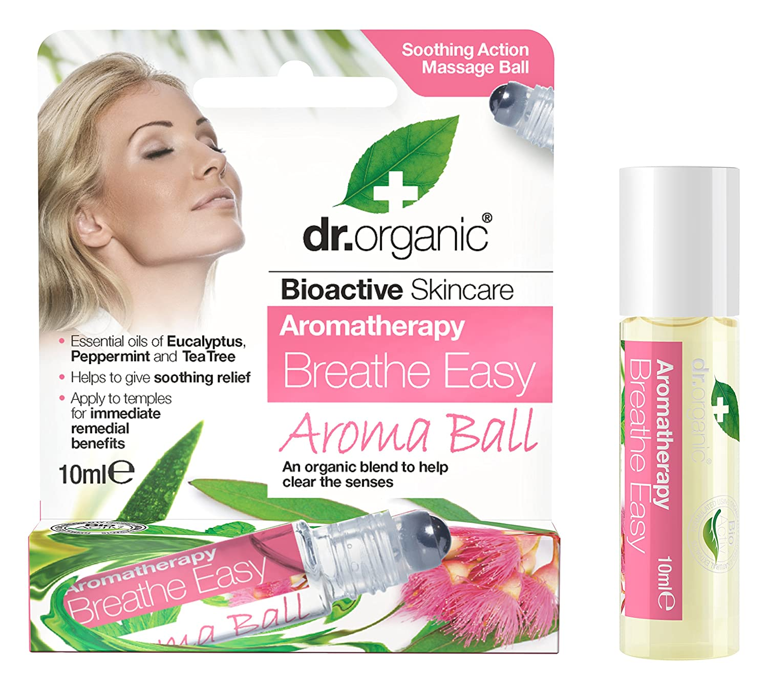 Aroma Ball Aromatherapy Roll-On Breathe Easy - 10 ml Optima Naturals DRC97001