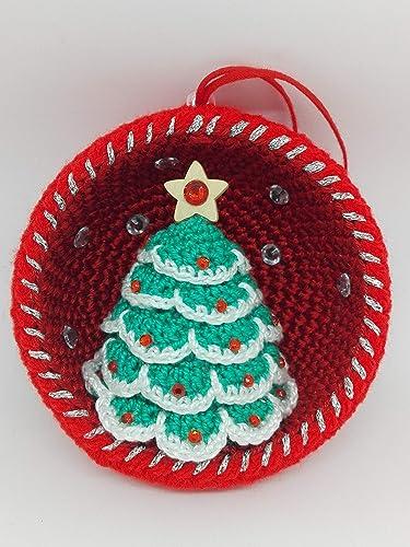 Decorazioni Albero Di Natale Con Foto.Palla Di Natale Con Albero Di Natale E Festoni Bianchi