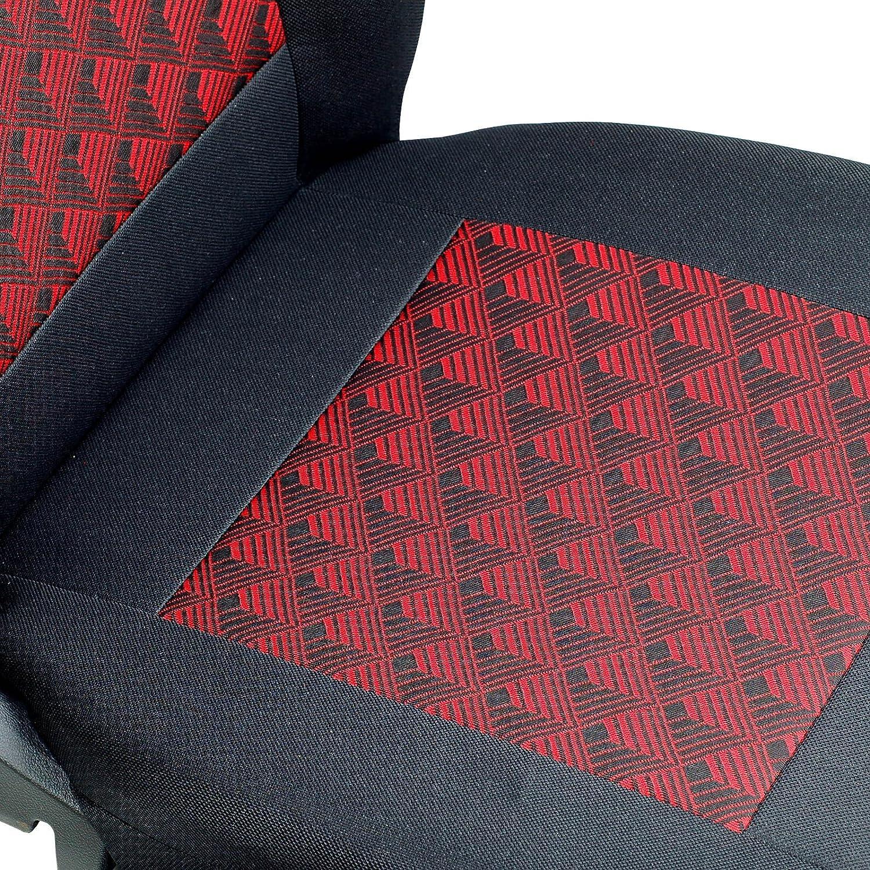 Colore: Nero//Rosso Zakschneider Yaris Effetto 3D Coprisedili Anteriori per conducente e passeggero