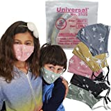 Universal 2525 Cloth Face Masks for Kids – 5 Color Assortment – Washable & Reusable Facemask for Nose & Mouth – 100…
