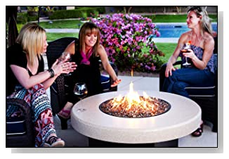 Oriflamme Fire Pit Fire Table with Ice Bucket Insert